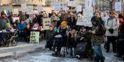 Demonstration om LSS i Stockholm. Janerik Henriksson/TT / TT NYHETSBYRÅN