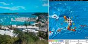 Noumea, huvudstad i Nya Kaledonien/Pacific Tsunami Warning Center TT