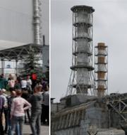Turister vid Tjernobyl. Arkivbilder. TT