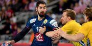 Nikola Karabatic i matchen mot Sverige i handbolls-EM. ANDREJ ISAKOVIC / AFP