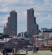 Norra tornen i Vasastan i Stockholm i juli i år. Pär Fredin/TT / TT NYHETSBYRÅN