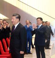Arkivbild: Kinas president Xi Jinping inför en publik i Shenzhen i samband med 40-årsjubileet av Shenzhens status som speciell ekonomisk zon, 14 oktober 2020.  Ju Peng / TT NYHETSBYRÅN