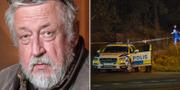 Leif GW Persson/brottsplatsen i Sollentuna. TT