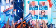Preliminära röstsiffror under valkvällen. MLADEN ANTONOV / AFP
