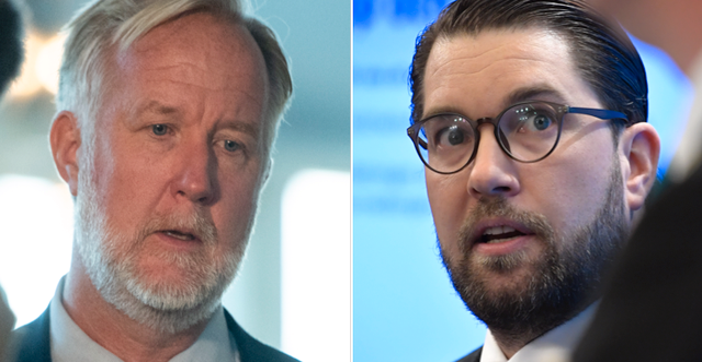 Johan Pehrson (L) och Jimmie Åkesson (SD). TT
