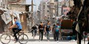 Douma, bild från gårdagen. LOUAI BESHARA / AFP