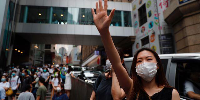 Arkivbild, protest i Hongkong. Kin Cheung / TT NYHETSBYRÅN