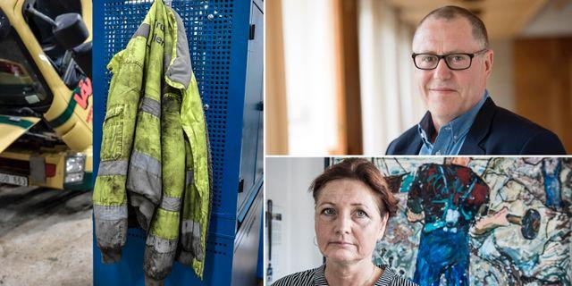 Anders Weihe, Teknikföretagen, och Marie Nilsson, IF Metall.  TT