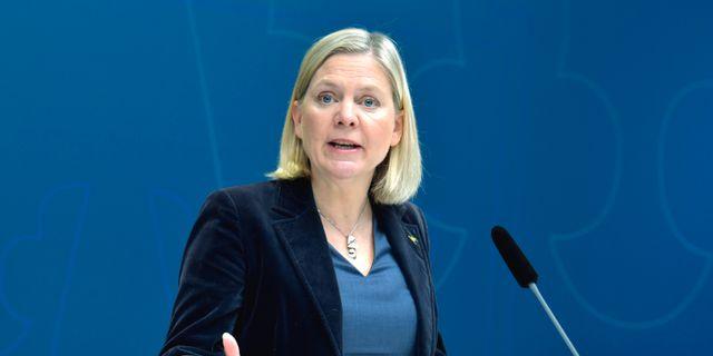 Sveriges finansminister Magdalena Andersson (S) Jessica Gow/TT / TT NYHETSBYRÅN