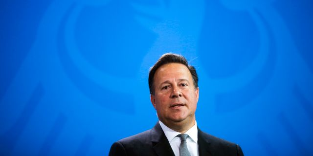 Panamas president Juan Carlos Varela.  Markus Schreiber / TT / NTB Scanpix
