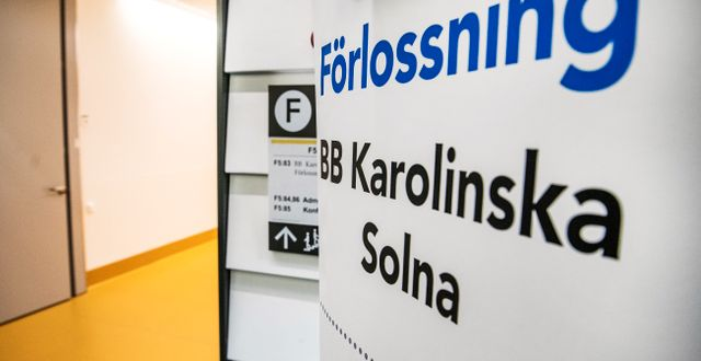 Förlossningen på Karolinska. Arkivfoto. Tomas Oneborg/SvD/TT / TT NYHETSBYRÅN