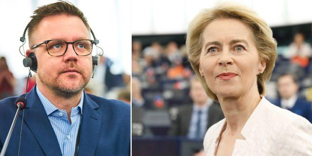 Fredrick Federley och Ursula von der Leyen.  TT