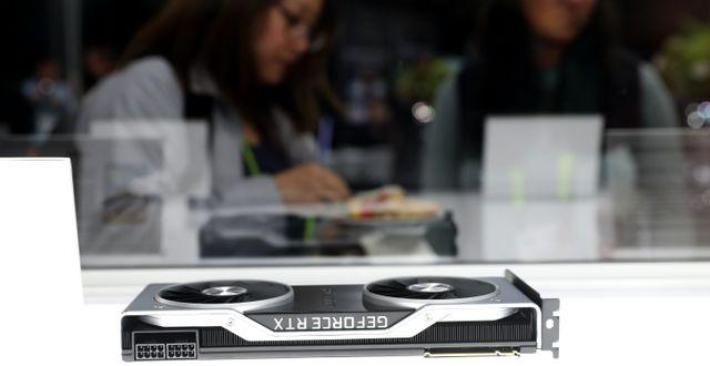 Arkivbild: Nvidias Geforce RTX 2060 grafikkort visas upp under ett pressevent för CES-mässan i Las Vegas 2019.  JUSTIN SULLIVAN / GETTY IMAGES NORTH AMERICA