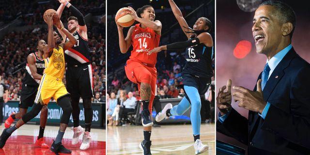 NBA, WNBA och Barack Obama.  Bildbyrån.