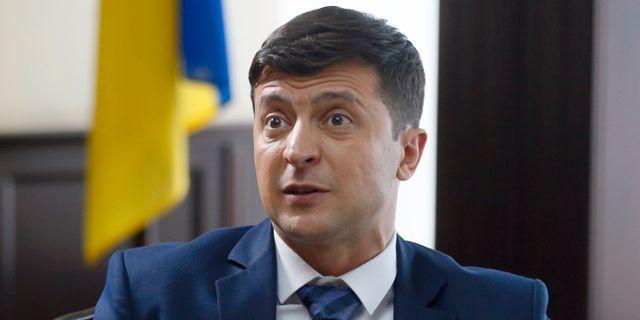 Volodymyr Zelenskij har tidigare spelat landets president i en tv-serie.  Efrem Lukatsky / TT NYHETSBYRÅN/ NTB Scanpix