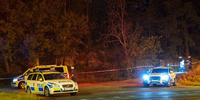 Polisen vid mordplatsen. Arkiv.  Fredrik Persson /TT / TT NYHETSBYRÅN