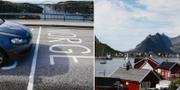 Gräns mot Norge/Reine i Lofoten. TT