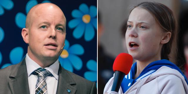 Björn Söder/Greta Thunberg. TT