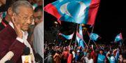 Mahathir Mohamad till vänster. TT