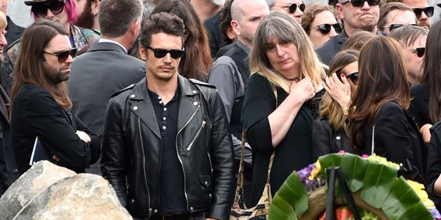 James Franco på Chris Cornells begravning i Los Angeles.  Chris Pizzello / TT / NTB Scanpix