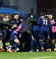 Dinamo Zagreb firar efter avancemanget. ANTONIO BRONIC / BILDBYRÅN