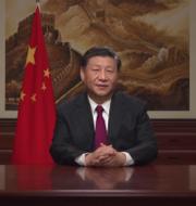 Xi Jinping under sitt senaste nyårstal.  Skärmdump.
