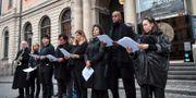 Demonstration i oktober i solidaritet med organisationen Srebrenicas mödrar. Jonas Ekströmer/TT / TT NYHETSBYRÅN
