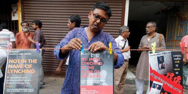 Protester genomfördes i flera indiska städer. RUPAK DE CHOWDHURI / TT NYHETSBYRÅN