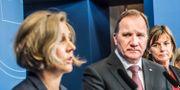 Arkivbild. Miljöminister Karolina Skog (MP), statsminister Stefan Löfven (S) och klimatminister Isabella Lövin (MP). Tomas Oneborg/SvD/TT / TT NYHETSBYRÅN