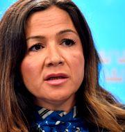 Liberalernas arbetsmarknadspolitiska talespersonen Gulan Avci vid presskonferens tidigare i veckan. Jessica Gow/TT / TT NYHETSBYRÅN