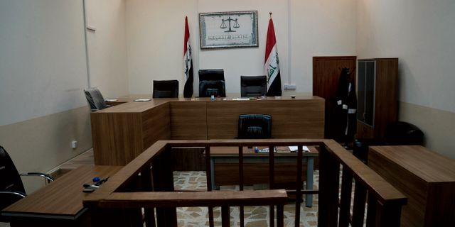 Bild på irakisk rättssal. Arkivbild. Maya Alleruzzo / TT NYHETSBYRÅN