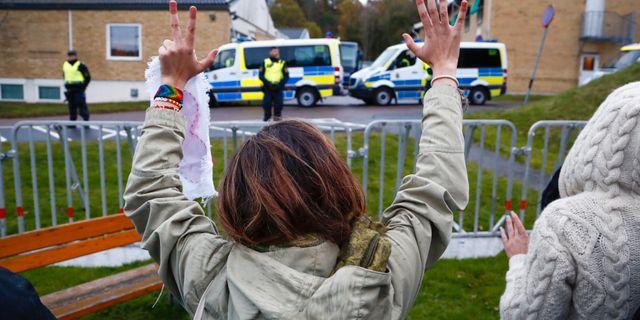 Illustrationsbild, tidigare demonstration mot utvisningar vid förvaret i Kållered. Thomas Johansson/TT / TT NYHETSBYRÅN