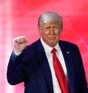 Donald Trump under den konservativa kongressen Cpac tidigare i år John Raoux / TT NYHETSBYRÅN