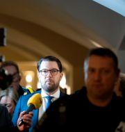 Jimmie Åkesson i riksdagen, arkivbild. Jessica Gow/TT / TT NYHETSBYRÅN