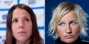 Charlotte Kalla och Vibeke Skofterud. TT.