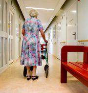 En kvinna på äldreboende. JESSICA GOW / TT / TT NYHETSBYRÅN