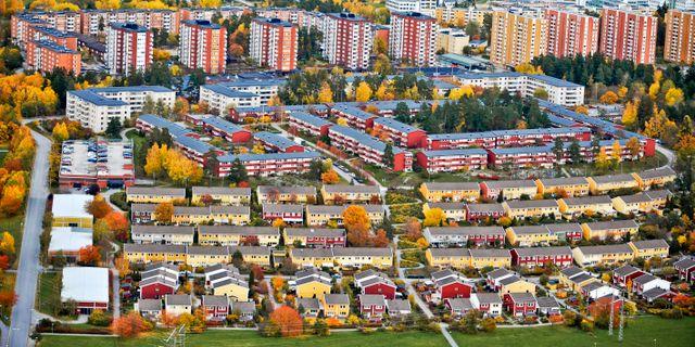 Flygbild över Akalla. Bertil Ericson / TT / TT NYHETSBYRÅN