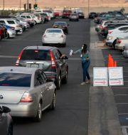 Drive in-röstning i Las Vegas. John Locher / TT NYHETSBYRÅN