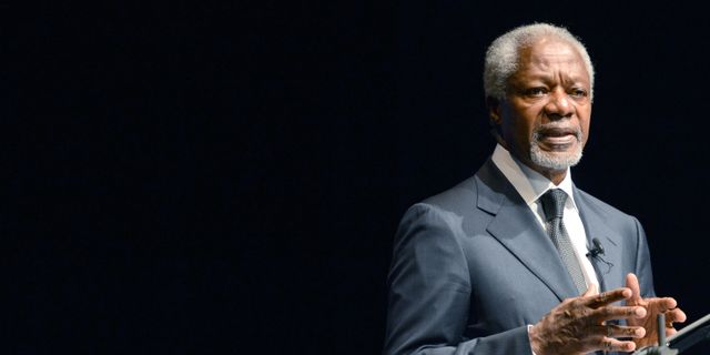 Kofi Annan.  CAROLINE SEIDEL / DPA