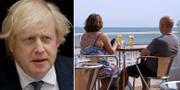 Boris Johnson/turister på Algarvekusten. TT