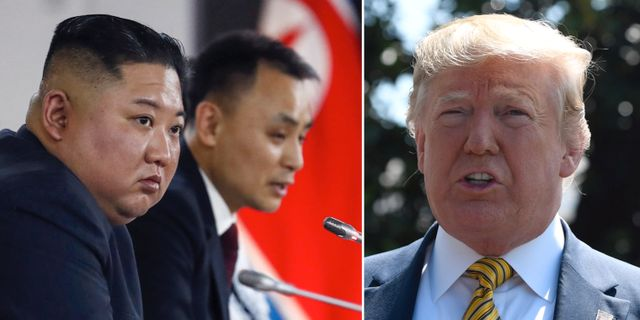 Kim Jong-Un / Donald Trump.  TT