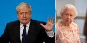 Boris Johnson och drottning Elizabeth II.  TT