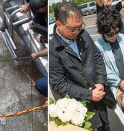 Dykare i Budapest och sörjande sydkoreaner. TT.