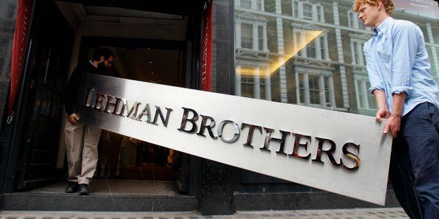 Illustrationsbild: Lehman Brothers gick i konkurs den 15 september 2008 på grund av sin exponering mot marknaden för handel med värdepapper med fastighetslån som säkerhet. Kirsty Wigglesworth / TT NYHETSBYRÅN