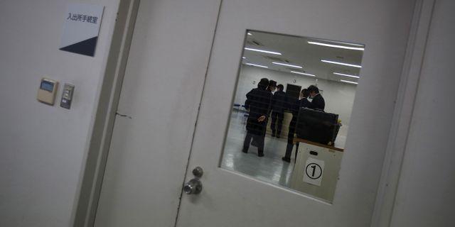 Vakter på förvaret i Ibaraki, Japan. Yuya Shino / TT NYHETSBYRÅN