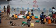 Barn i ett flyktingläger i Sydsudan. Ben Curtis / TT NYHETSBYRÅN