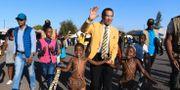 Botswanas expresident Ian Khama. MONIRUL BHUIYAN / AFP