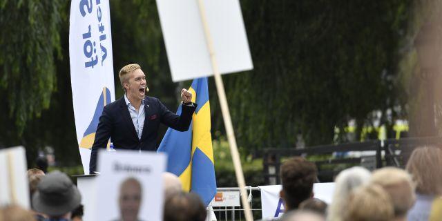William Hahne, vice partiledare för Alternativ för Sverige. Arkivbild. Erik Simander/TT / TT NYHETSBYRÅN