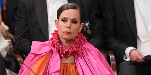 Sara Danius under Nobelprisutdelningen i Konserthuset i Stockholm. Anders Wiklund/TT / TT NYHETSBYRÅN