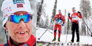 Perry Olsson hjälper Marit Björgen att välja skidor.  Bildbyrån
